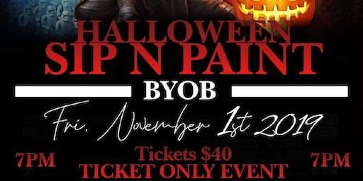 Halloween Sip n Paint