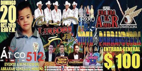 #Yo con Abraham, a Beneficio de Abraham Gzz Moreno boletos