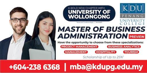 KDU Penang MBA Programme Preview
