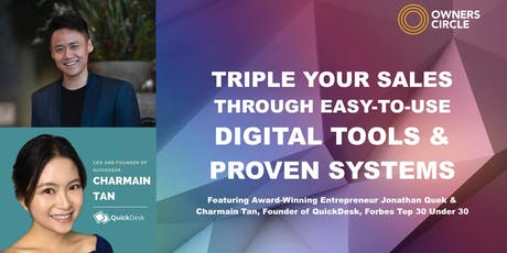 Triple Your Sales Through Easy-To-Use Digital Tools & Proven Systems tickets