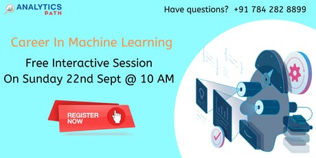 Machine Learning Free Workshop in Hyderabad on Sunday, 22nd Sept @ 10 am tickets