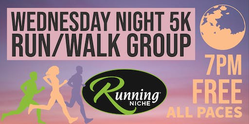 Weekly Wednesday Night 5K Running and Walking Group in the Grove STL
