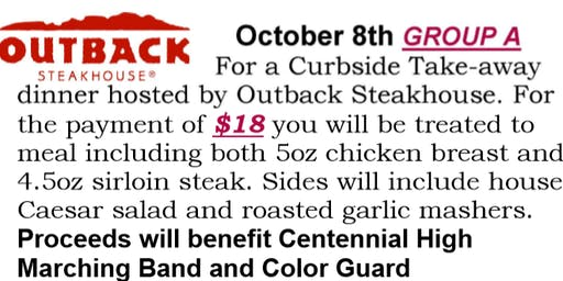 Centennial Marching Band Outback fundraiser