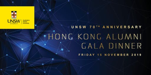 UNSW 70th Anniversary Hong Kong Alumni Dinner | 15 November 2019
