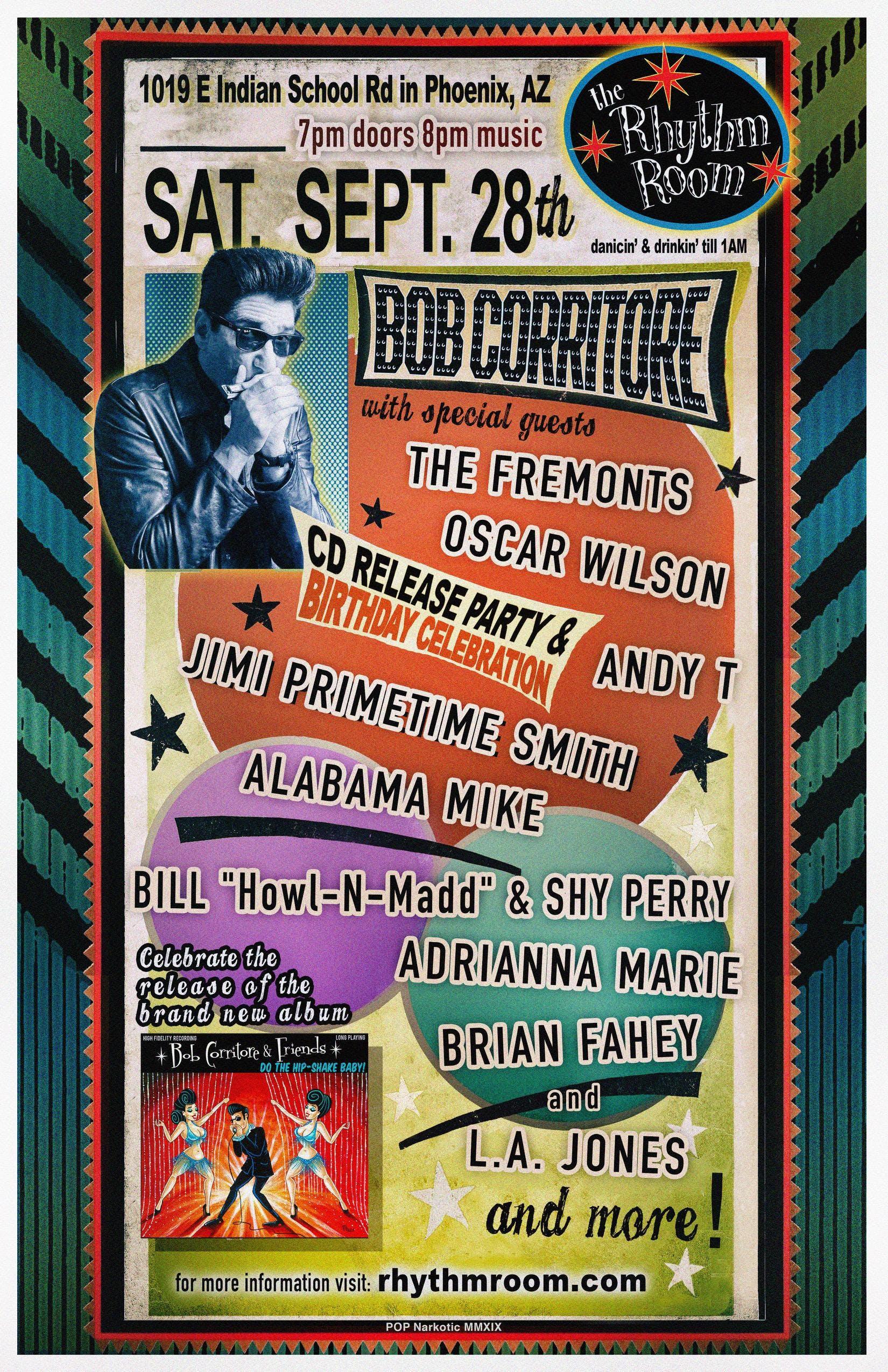 BOB CORRITORE CD RELEASE PARTY & BIRTHDAY CELEBRATION