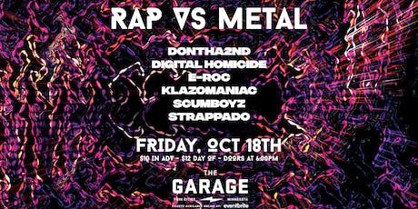 Rap vs Metal tickets