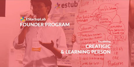 [Founder Program] Creatigic & Learning Person tickets