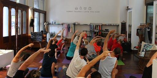 Free Monday Night Yoga in Martin Place