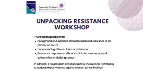 Unpacking Resistance workshop tickets