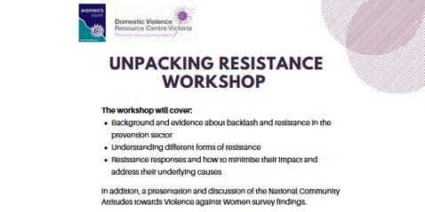 Unpacking Resistance workshop