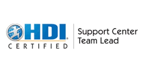 HDI Support Center Team Lead 2 Days Virtual Live Training in Hong Kong tickets