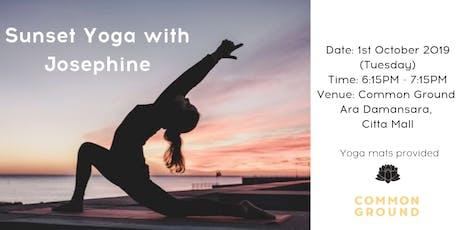Sunset Yoga with Josephine Hoon tickets