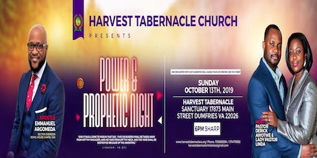 Power & Prophetic Conference - Harvest Tabernacle Ministries tickets