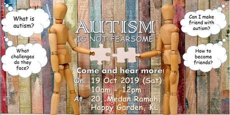 AUTISM IS NOT FEARSOME tickets