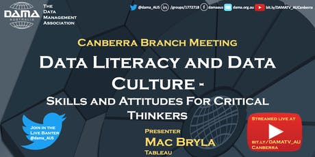 Data Literacy and Data Culture - Skills and attitudes for critical thinkers tickets