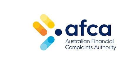 Australian Financial Complaints Authority (AFCA) presentation tickets