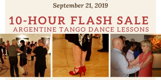 Argentine Tango Lessons 10-Hour Flash Sale on 9/21/19