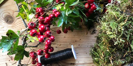 Mossed Wreath Workshop - for Table Centre or Door tickets
