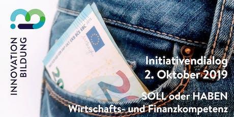 Initiativendialog für Wirtschafts- und Finanzkompetenz Tickets