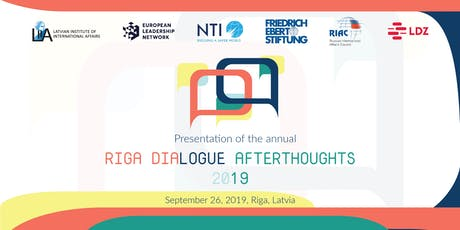 Riga Dialogue Afterthoughts 2019 tickets