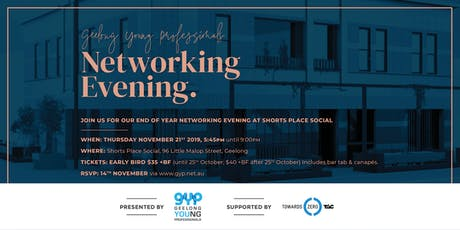 GYP Networking Evening at Shorts Place Social tickets