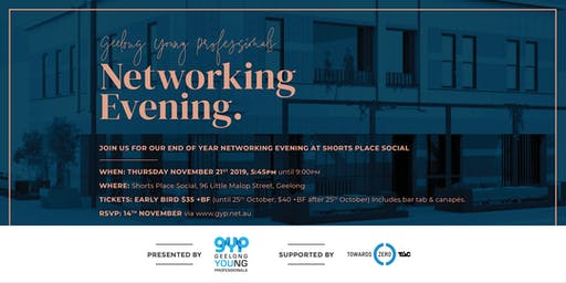 GYP Networking Evening at Shorts Place Social