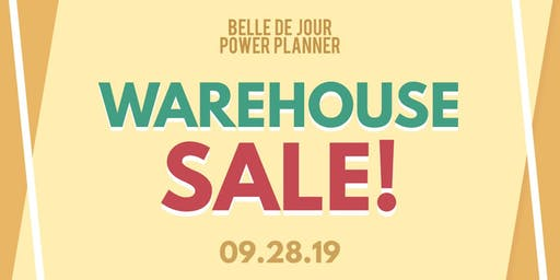 BDJ First-Ever Warehouse Sale