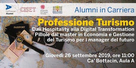 Alumni in Carriera: Professione Turismo 2019 biglietti