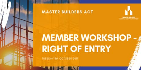 MBA Member Workshop - Right of Entry tickets