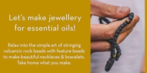 DIY Volcanic Rock Necklace & Bracelet workshop