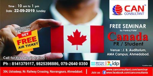 FREE SEMINAR ON CANADA PR / PNP / INVESTOR VISA