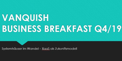 Vanquish Business Breakfast Leipzig