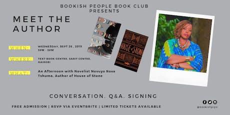 An Afternoon with Zimbabwean Author NOVUYO ROSA TSHUMA tickets