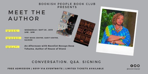 An Afternoon with Zimbabwean Author NOVUYO ROSA TSHUMA