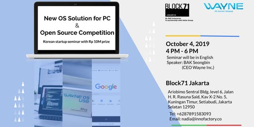 New OS Solution for PC & Open Source Competition Seminar