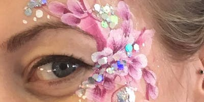 Face painting- Eye Designs with One Stroke Rainbow Cakes