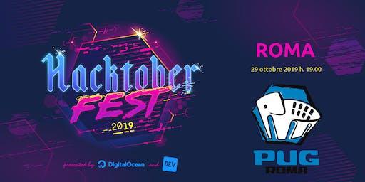 Hacktoberfest 2019 #AperiTech di PUG Roma