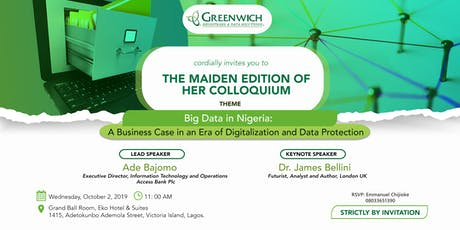 Big Data In Nigeria: A Business Case for Digitalization and Data Protection tickets