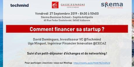 Comment financer sa startup ? CECAZ x Techmind tickets