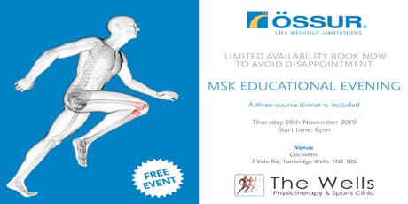 Wells Physio MSK Educational Evening tickets