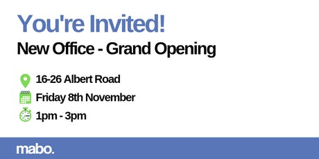 Mabo - New Office Grand Opening tickets