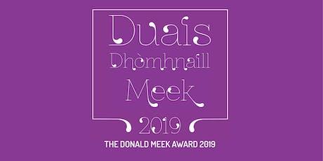 Duais Dhòmhnaill Meek 2019 / The Donald Meek Award 2019 tickets