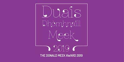 Duais Dhòmhnaill Meek 2019 / The Donald Meek Award 2019