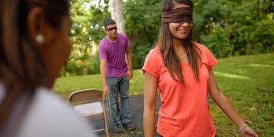 Développer la confiance en l'autre (Marche à l'aveugle)