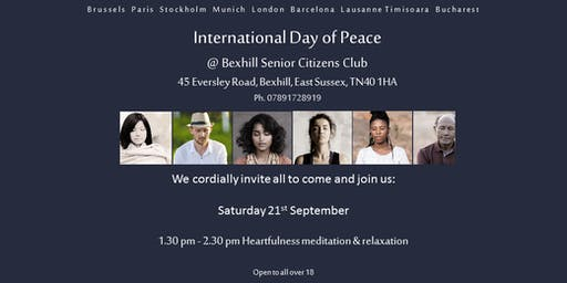 Heartfulness Meditation on World Peace Day in Bexhill