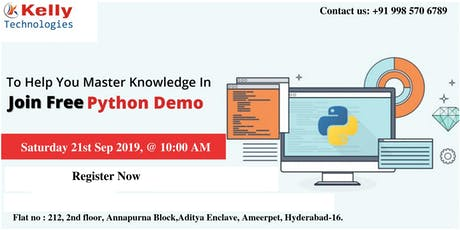 Attend Free Demo on Python tickets