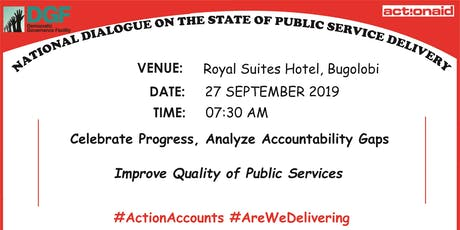 National Dialogue on the State of Public Service Delivery tickets