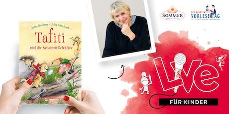"""FÜR KINDER: Unser Vorlesetag mit Julia Ginsbach und """"Tafiti"""" Tickets"""