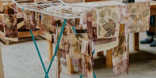 Eco Print your Scottish leaves on Silk week end workshop