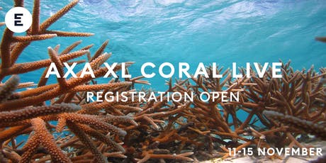 AXA XL CORAL LIVE 2019 - Live lessons from the Caribbean tickets